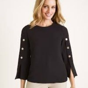 Chico's Military Detail Top